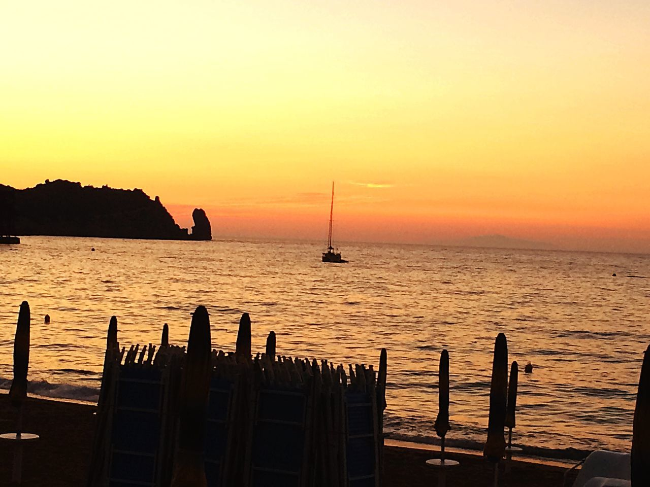 Sunset Sea Nature Landscape