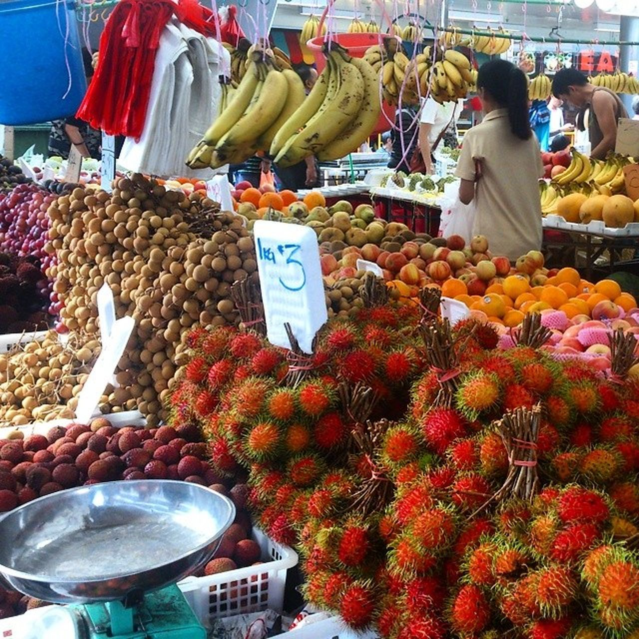 variation, market stall, market, fruit, retail, banana, for sale, food, choice, freshness, abundance, large group of objects, food and drink, healthy eating, arrangement, day, price tag, vegetable, outdoors, multi colored, no people