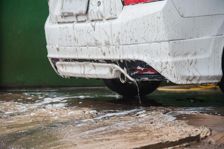 Automobile Car Car Wash Car Washing Muddy Rain Service Stain Wash Washing Water