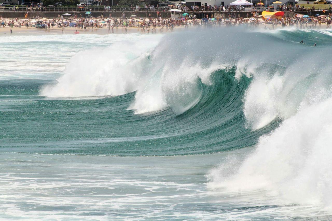 Beautiful power Waves Surfing Surf's Up First Eyeem Photo Travel Destinations Water Bondi Beach Australia Sydney, Australia