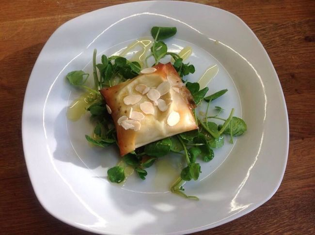Goats Cheese Filo Parcel