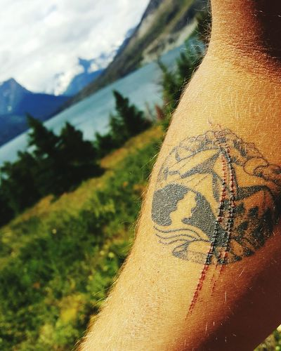 Tattoo in its natural environment