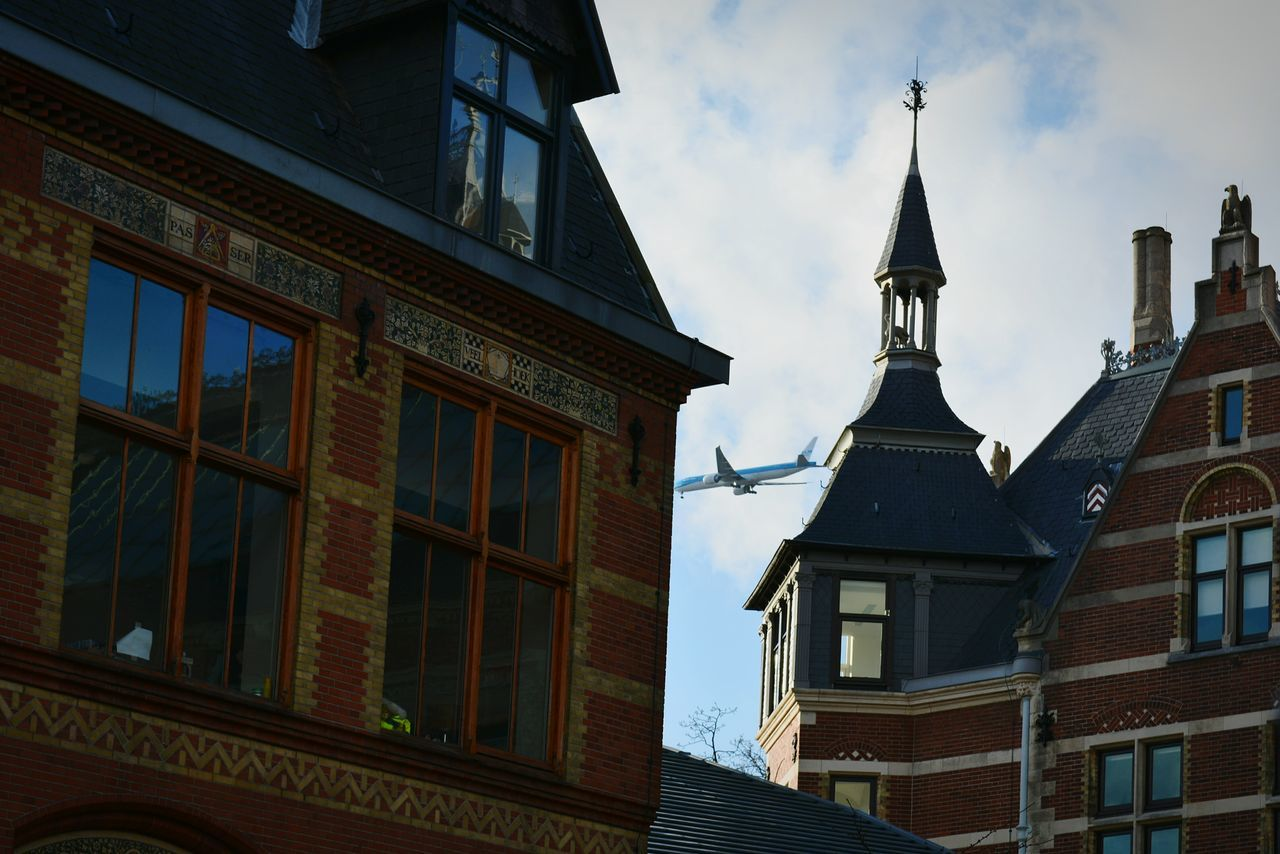 Architecture Amsterdam Airplane Sky Building Rijksmuseum Reflection Netherlands OpenEdit Eye4photography  From My Point Of View Enjoying Life