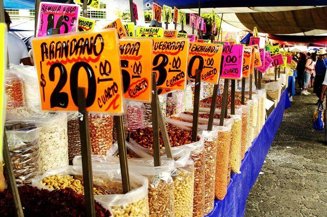 Tepotzotlan Mexico Bulk Goods Market Market Stall Dry Food Market Dry Food Marketplace Hibiscus Rice Beans Candies