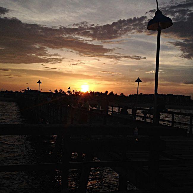 Sunset Florida Sea Hello World