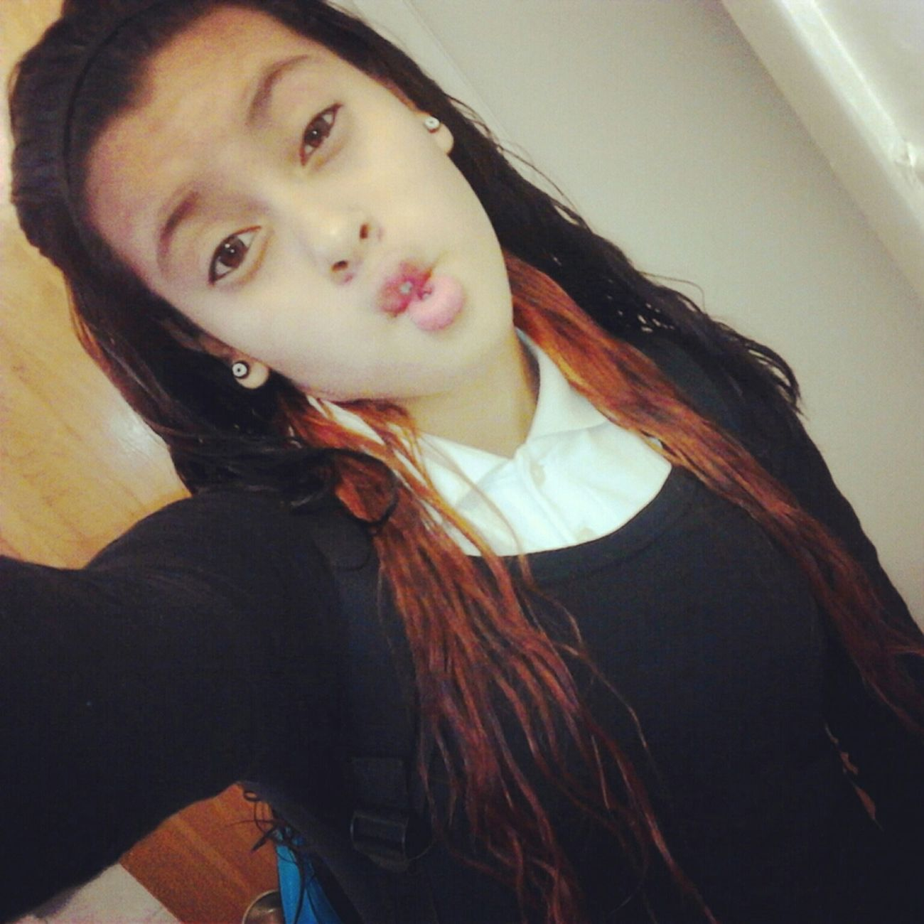 Orange and Black Hair <3