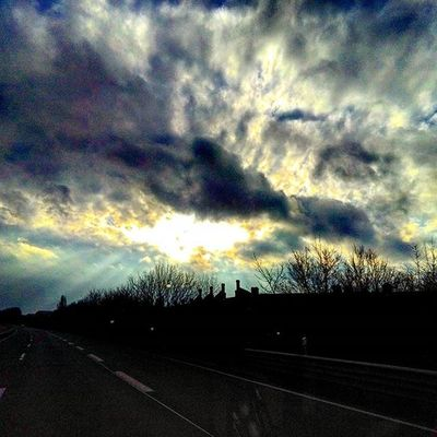 Clouds Sun Sunset Shadow Shades Heaven Sky Street Highway Autobahn