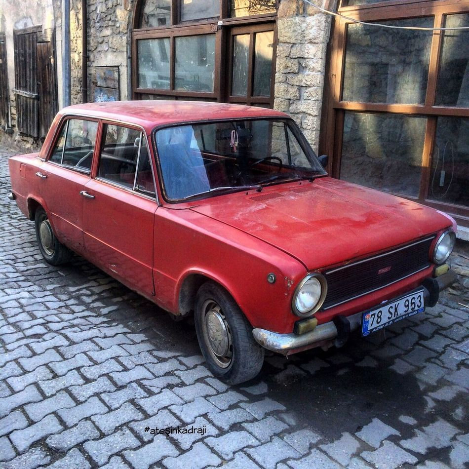 Good Morning Turkey Türkiye Car Red Life Today Amazing Günaydın Old-fashioned Vintage Car Retro Styled Obsolete Transportation Mode Of Transport Land Vehicle Abandoned Outdoors Collector's Car Day Stationary No People Architecture