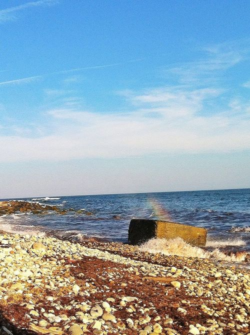 I shot this pic 20 times trying to catch the rainbow in the mist off the rock... thats all I could get Water_collection Taking Photos Ocean Beachphotography