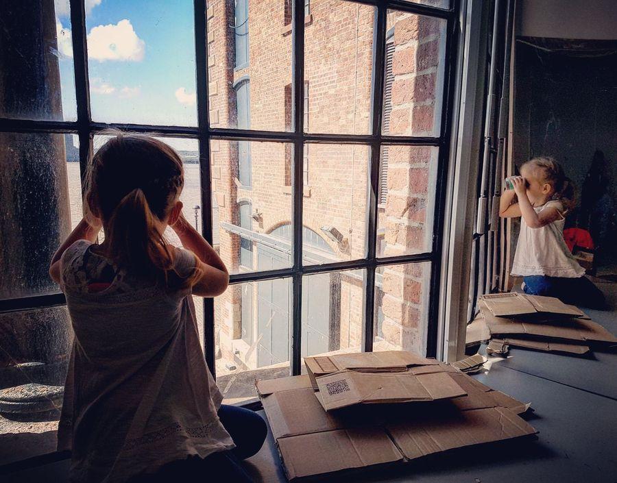 Refelections Reflection Child Innocence Investigation Investigating TrueArt Neice Window Rivermersey Heritage Heritage Building Binoculars Fresh On Eyeem  Myfavoritephoto