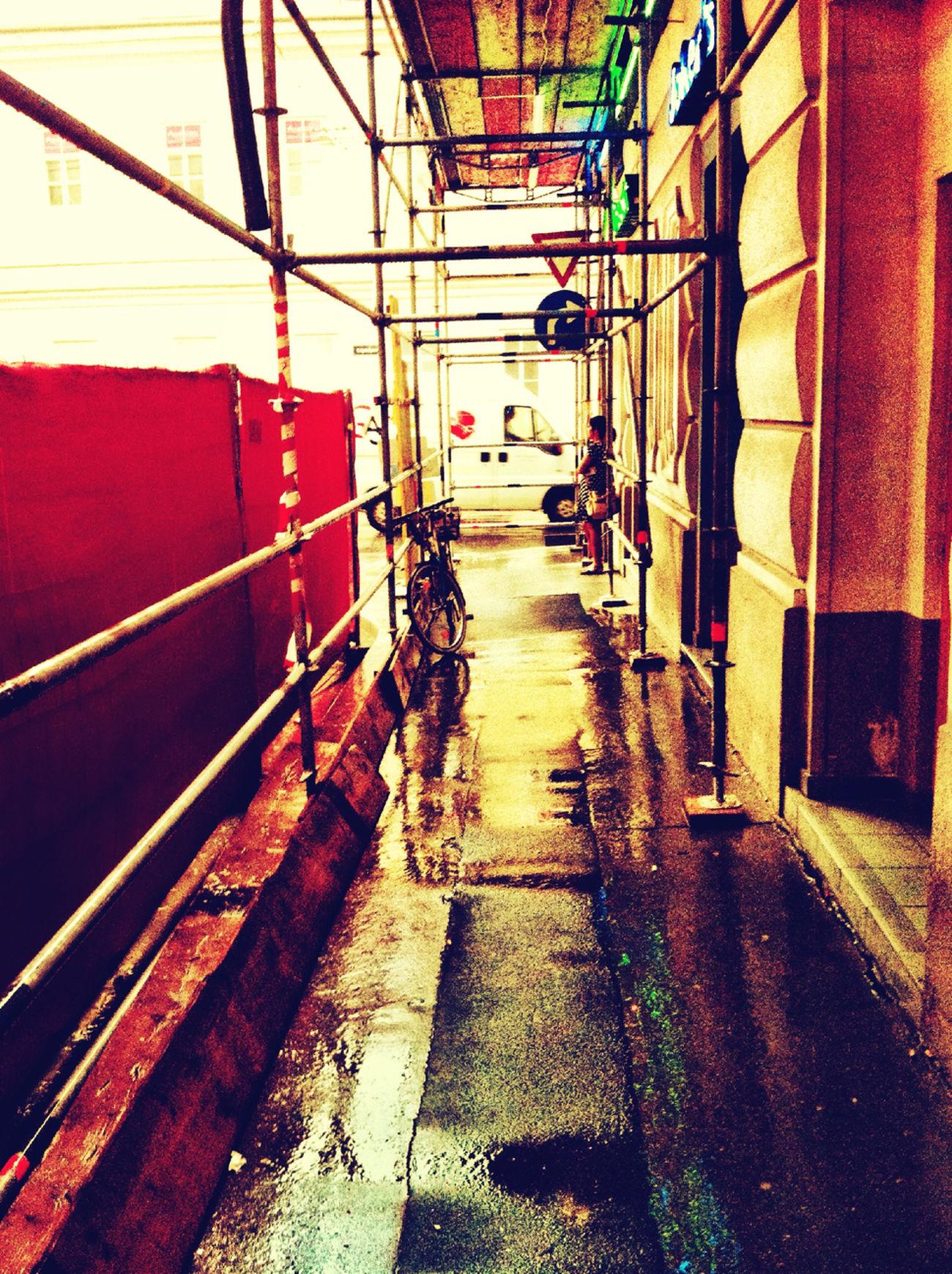 Scaffolding And Rain