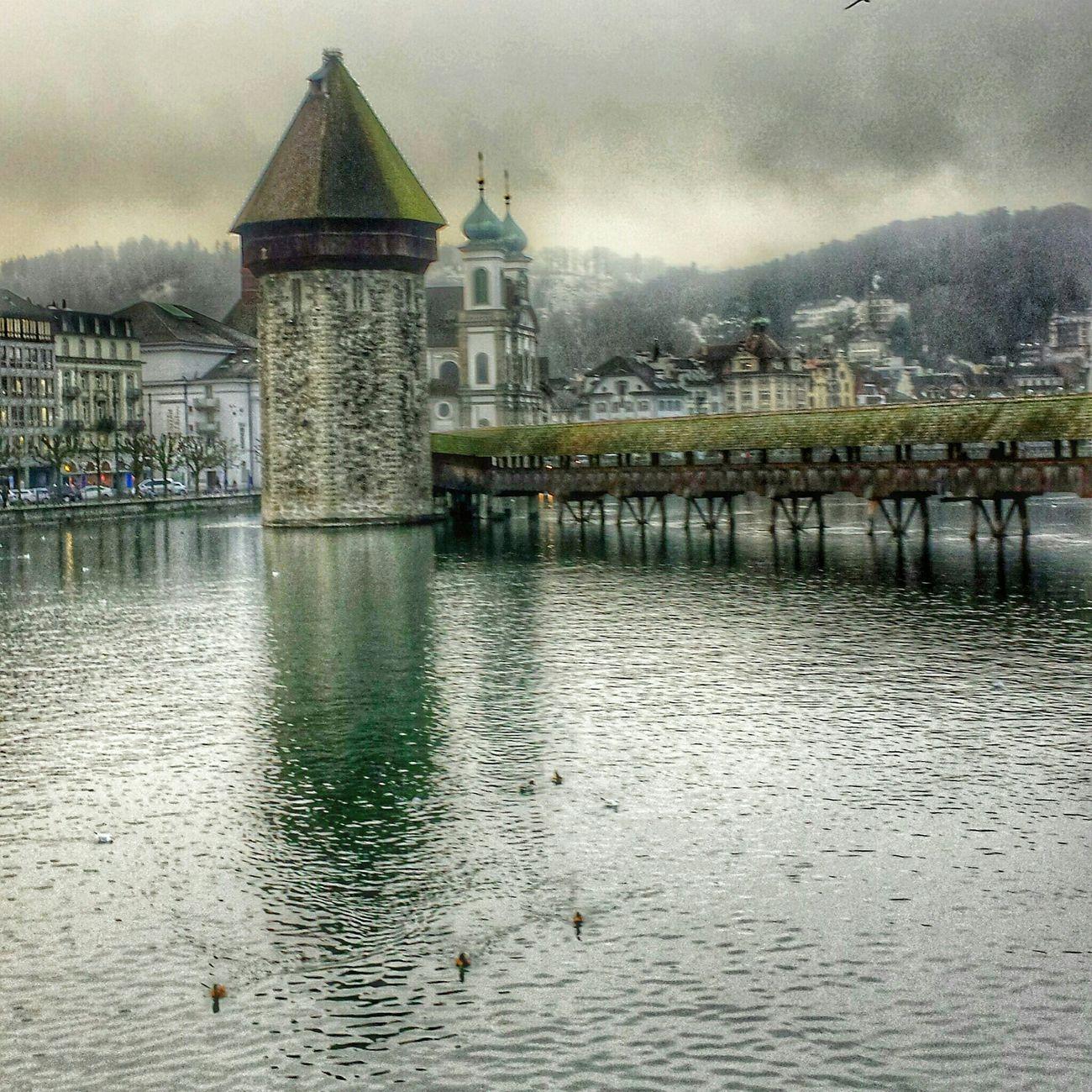 Kappelbrücke Luzern Cityscape Cityworldwide Swiss Luzern Lake View