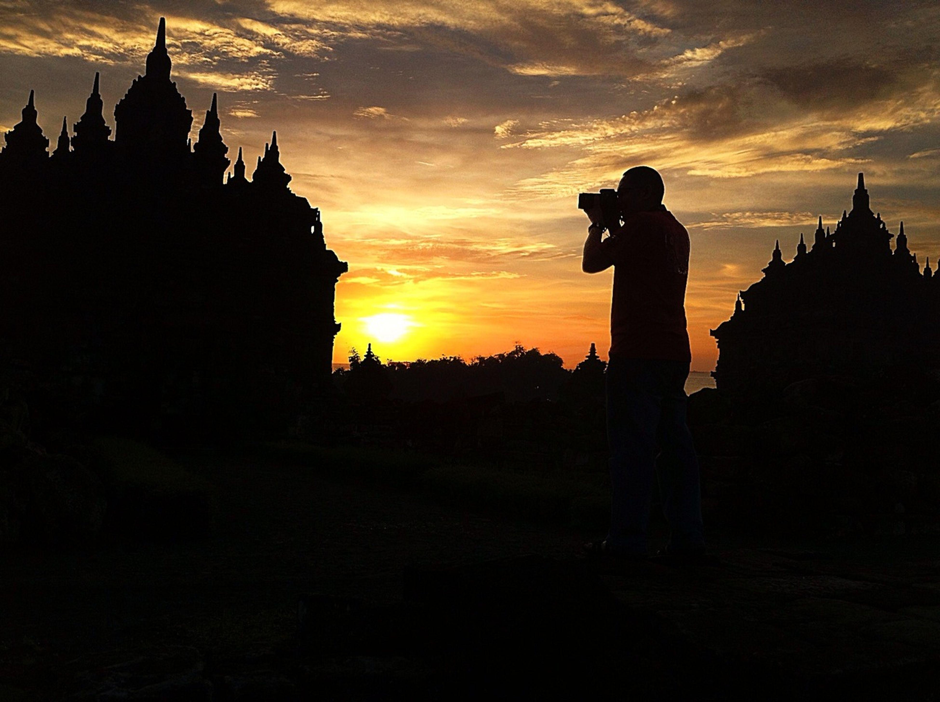 sunset, silhouette, architecture, sky, building exterior, built structure, religion, orange color, place of worship, spirituality, cloud - sky, sun, church, outline, dark, dusk, scenics, dramatic sky