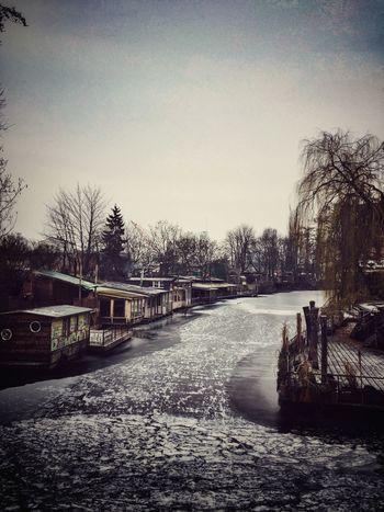 Winter Berlin Canal Ice