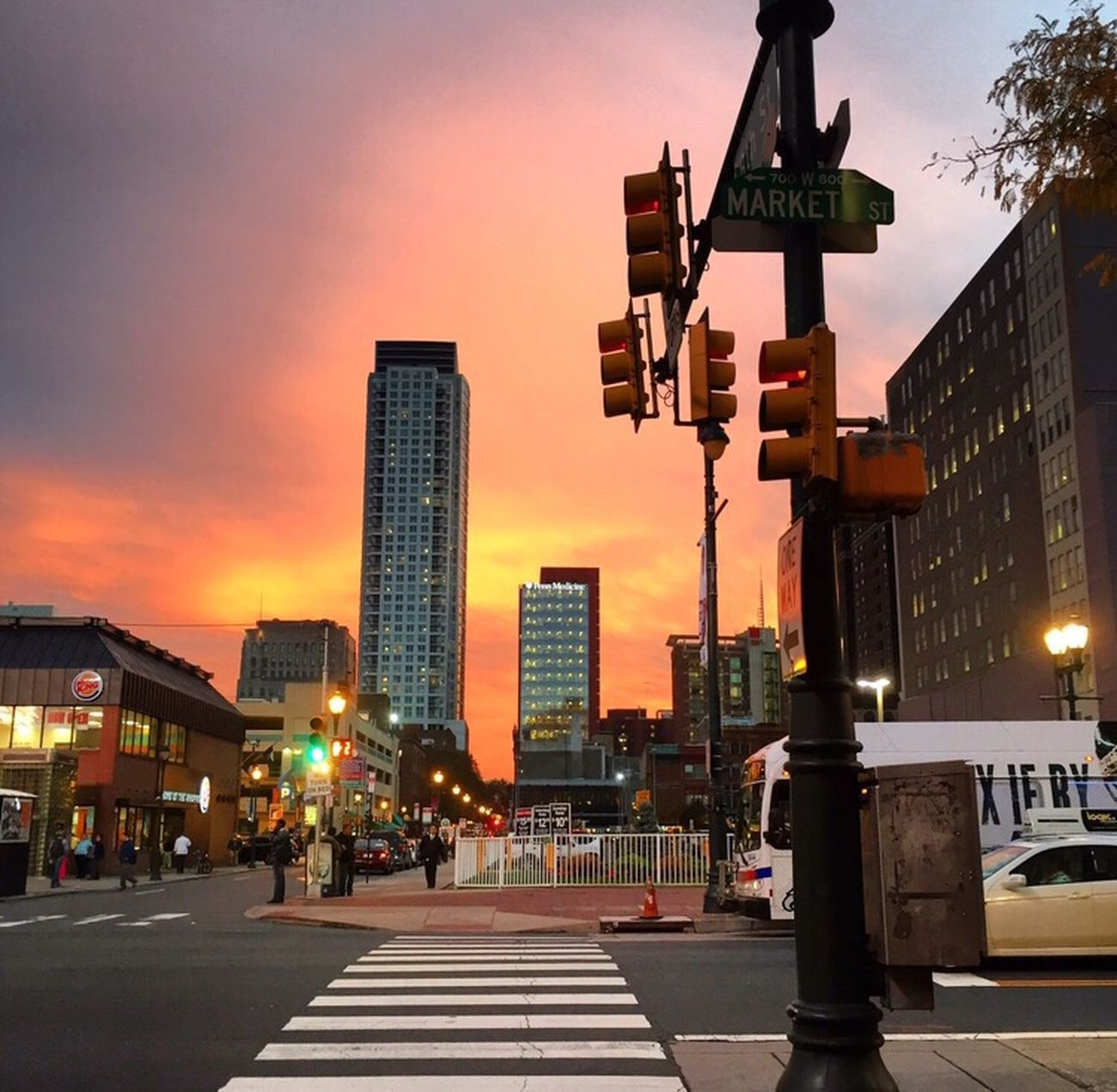 2015 Center City Philadelphia Centercity Marketstreet City Cityscapes Sunset Skyscraper