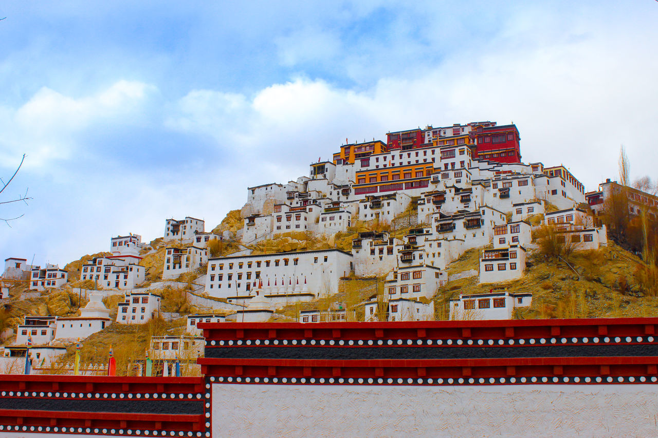 architecture, building exterior, built structure, sky, no people, history, low angle view, day, travel destinations, cloud - sky, outdoors