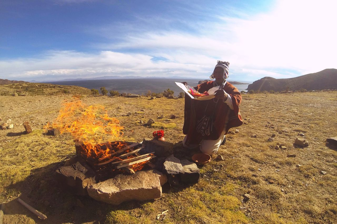The KIOMI Collection Burning our evil spirits out from our brain as time goes on. Lac Titicaca Bolivia Peru Spirituality