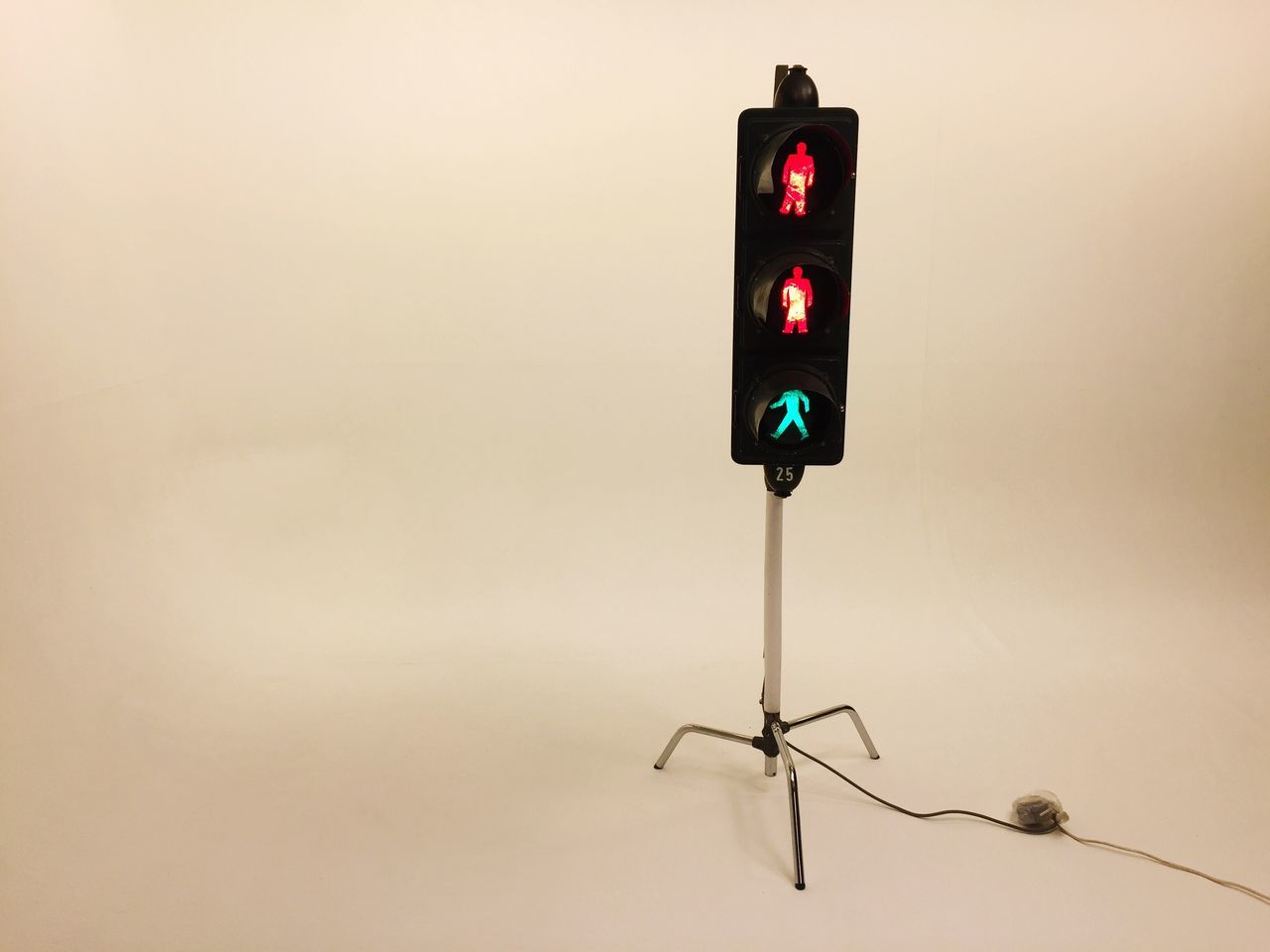 Traffic Lights Shooting No People StillLifePhotography White Studio Shot Red Green Color