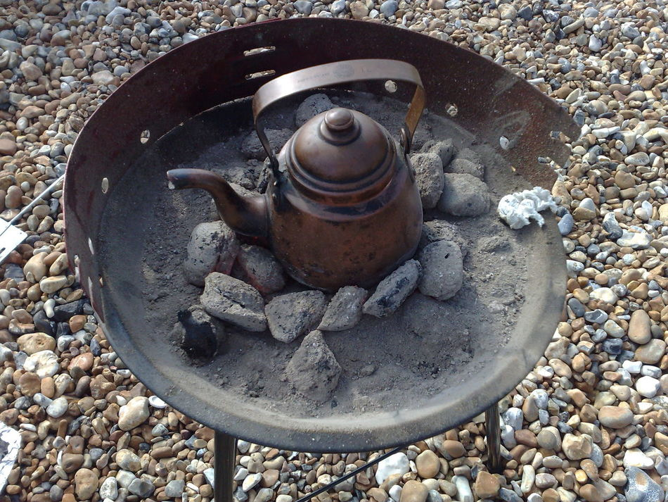 Barbeque Kettle Kettlebell  No People Outdoors Rock - Object Stone Beach