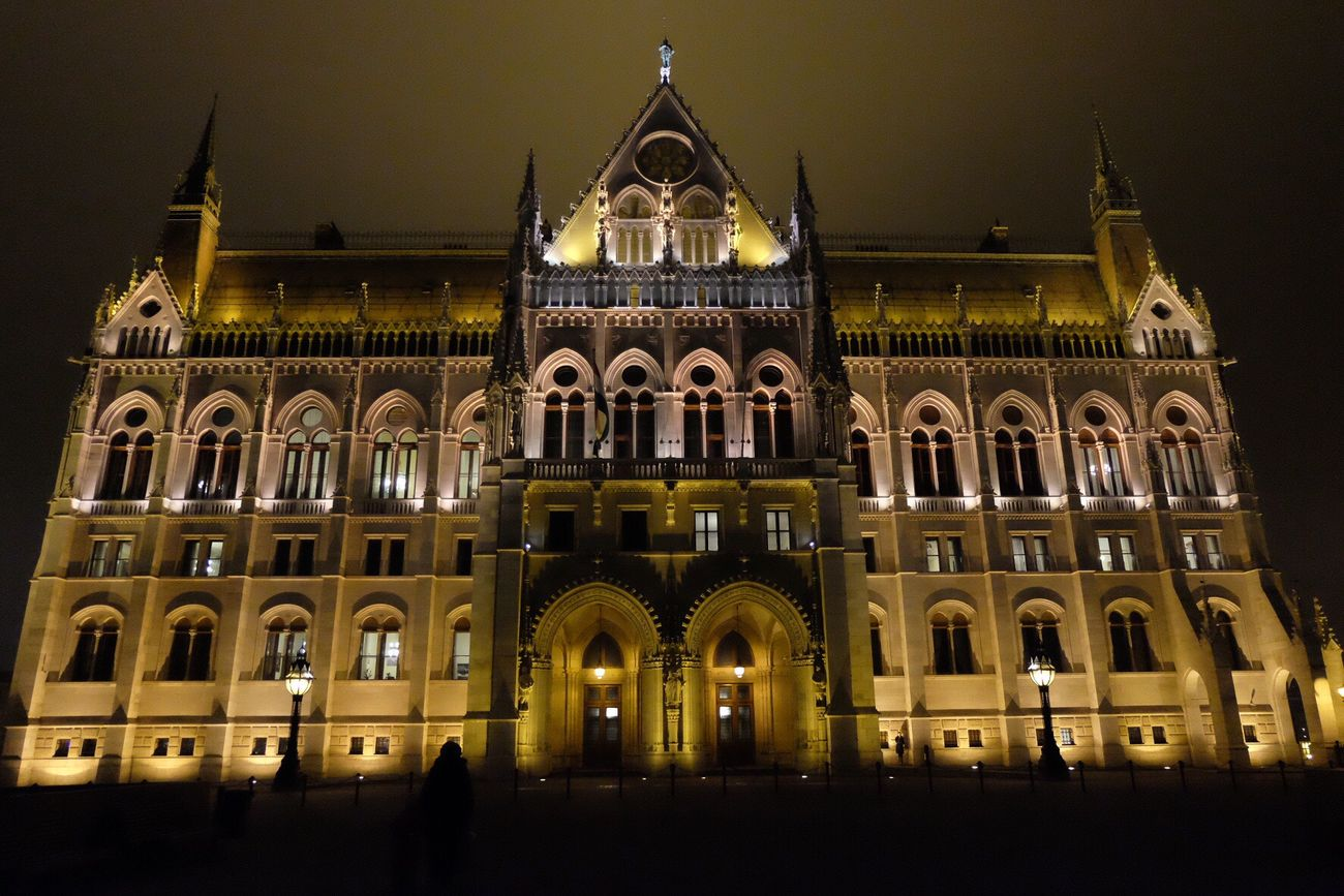 Budapest Architecture Building Exterior Travel Destinations Travel Built Structure City Night No People Illuminated Sky Outdoors Orszaghaz Architecture