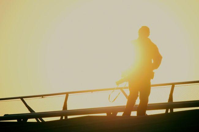 Will be a part of sun. Sunset Photographer Silhouette EyeEm Tokyo Meetup 7