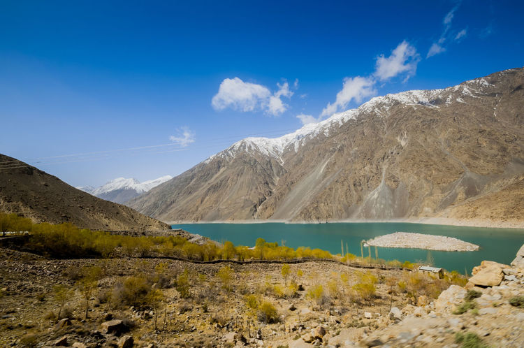 Satpara Lake,Skardu ,Gilgit and Baltistan, Pakistan Satpara Lake Skardu Pakistan Beauty In Nature Blue Day Lake Landscape Mountain Nature No People Non-urban Scene Outdoors Physical Geography Scenics Sky Tranquil Scene Tranquility Water