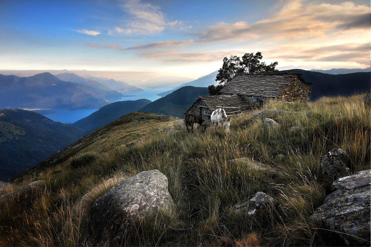Mountain Sky Landscape Comer See Lago Di Como Sunset Betterlandscapes