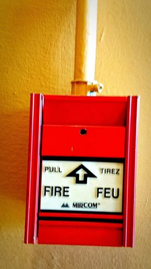 Fire alarm pull switch. Background image. Editorial. Emergency
