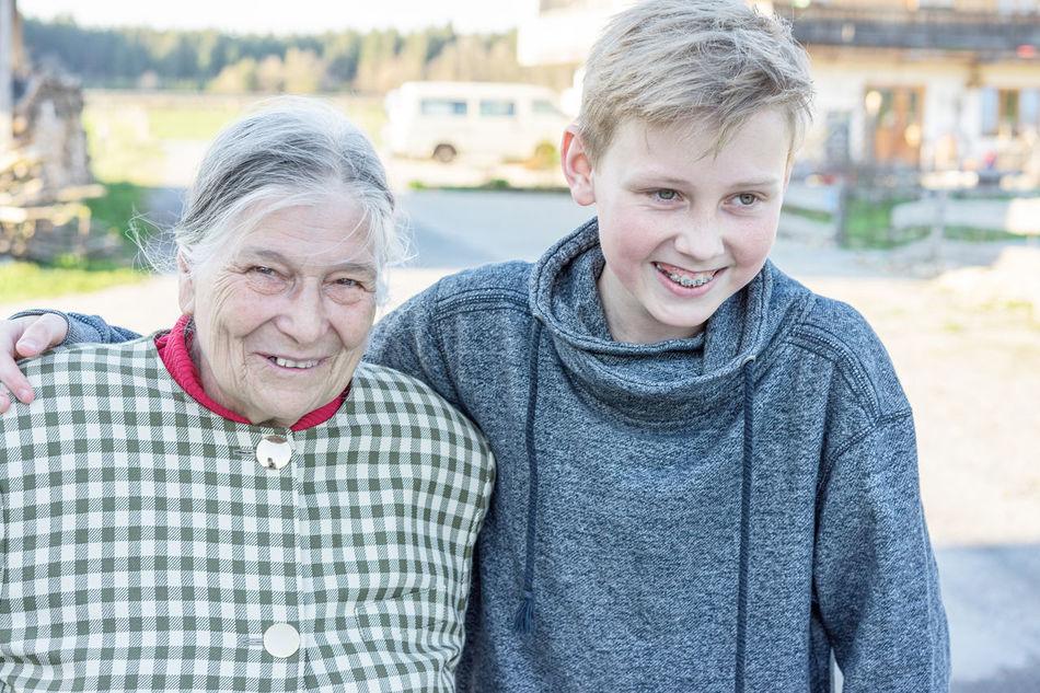 Beautiful stock photos of granny,  14-15 Years,  80 Plus Years,  Adult,  Bonding