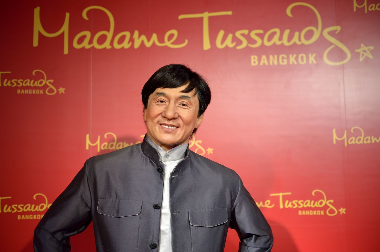 Jacky Chan Casual Clothing Composition Confidence  Fashion Friendship Front View Holding Lifestyles Looking At Camera Madame Tussauds Men Music Occupation Portrait Real People Standing Three Quarter Length Waist Up Wax Dolls Wax Museum Young Adult Young Men