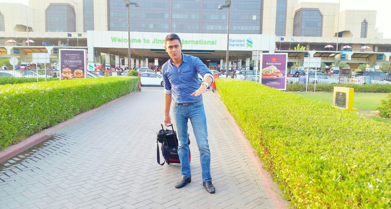 Arrived Karachi Travel Ends So Far Will Again Soon Hi Thats Me  Traveling Back Home Airport