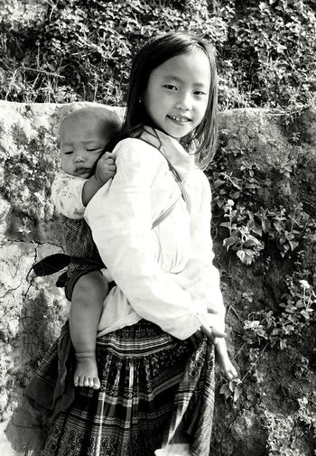 Sister And Brother October2015 Mucangchai Vietnam Kids Portrait Kidsphotography Black And White