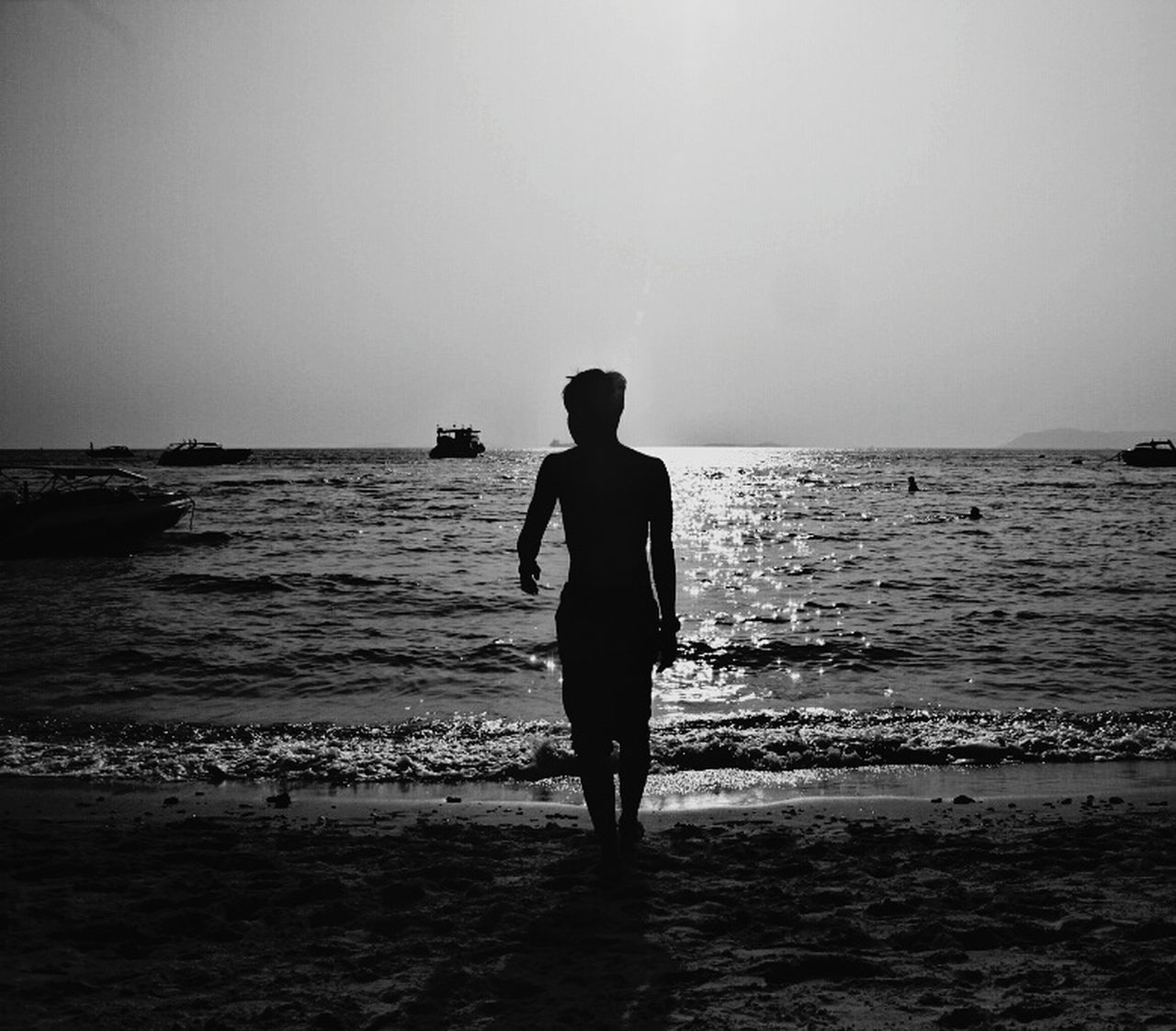 Alone Not Happy Notlove It's Me Sea Beach Horizon Over Water Rear View Silhouette Full Length Vacations Water One Person Sky People Adult One Man Only Walking Travel Destinations Nature Only Men Sunset Standing Tranquility