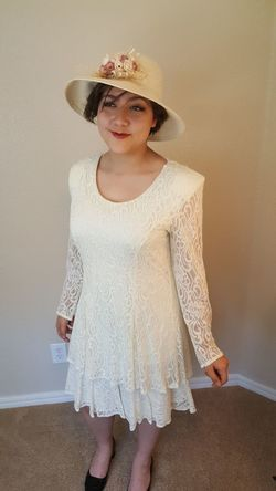 EyeEm Selects woman One Woman Only Sun Hat Vintage Lace Dress