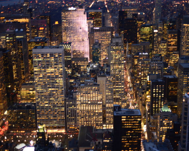 Aerial View Architecture Building Building Exterior Built Structure City City Life Community Composition Development Fountain Glass Glass - Material Human Settlement Illuminated Light New York City Night Perspective Residential District Street Top Perspective Transparent Window