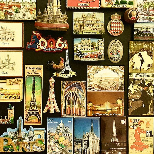 Magnet collections of Monaco, Austria, Paris PrivateCollections PersonalCollections Collections Travelmania travelers montecarlo Monaco salzburg Austria PARIS France Europe