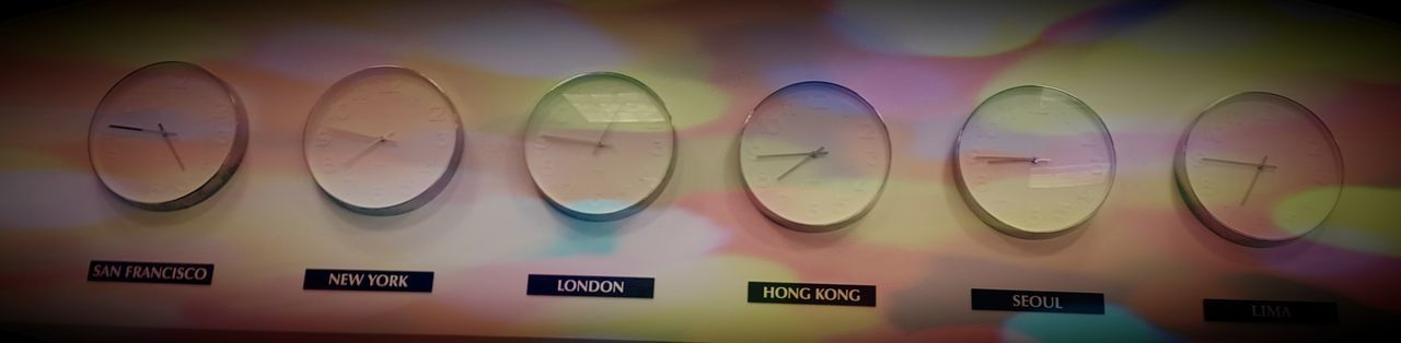 Airport Time Backgrounds Clock Clocks On A Wall In A Row No People Repetition Side By Side Time Time To Reflect Time Zone World Clock World Time Clock