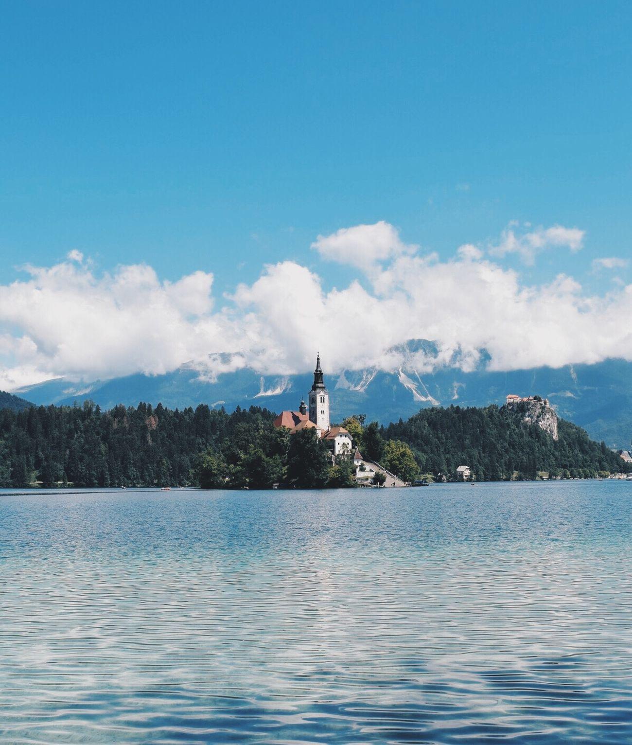 blue. water - land - mountain. Slovenia Mountains Alps Lake Slovenian Alps