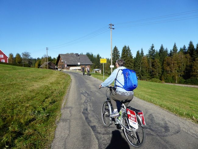 Hinterzarten Cycling Around Beautiful Day Enjoying The Sun