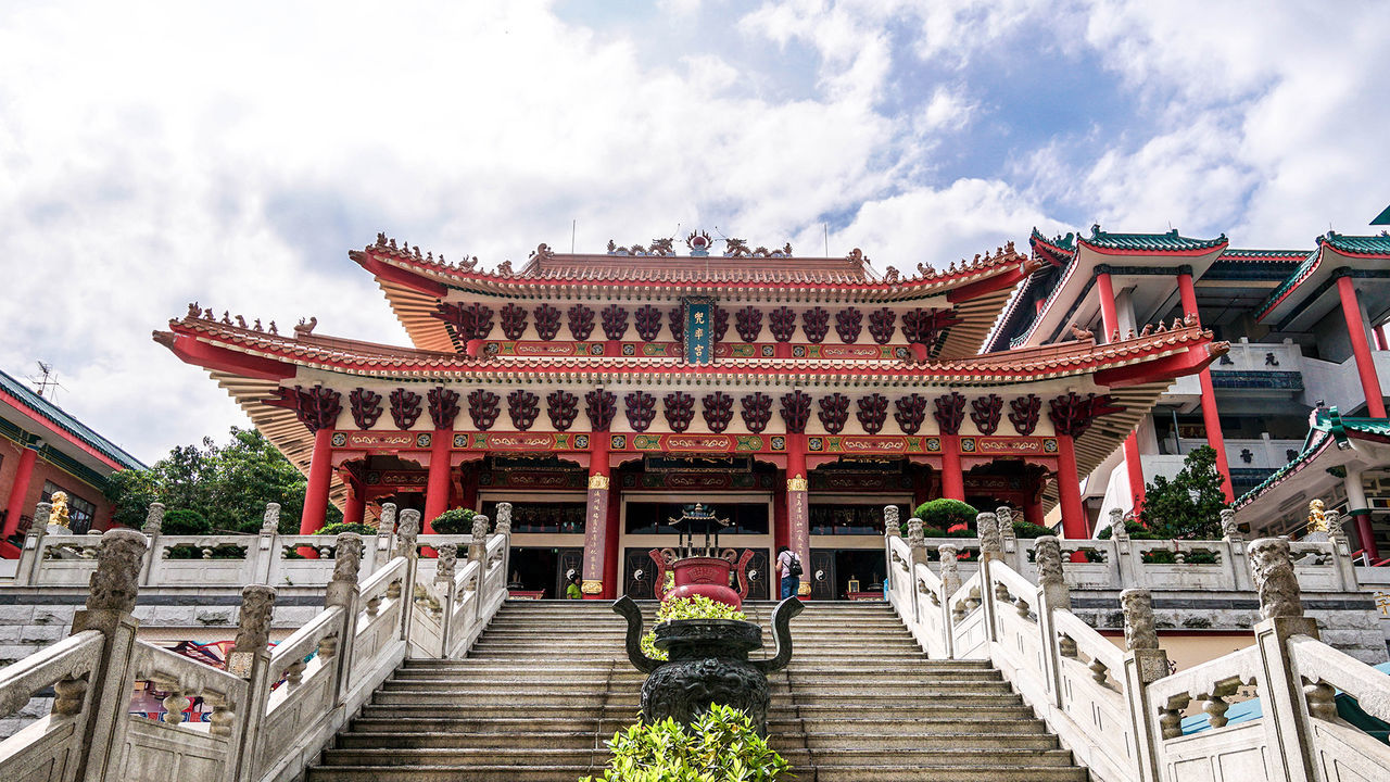 Architecture Daoism Fung Ying Seen Koon Hong Kong Vegetarian A6500 Chinese Culture Dragon Fe1635 No People Religion Sony Travel Destinations