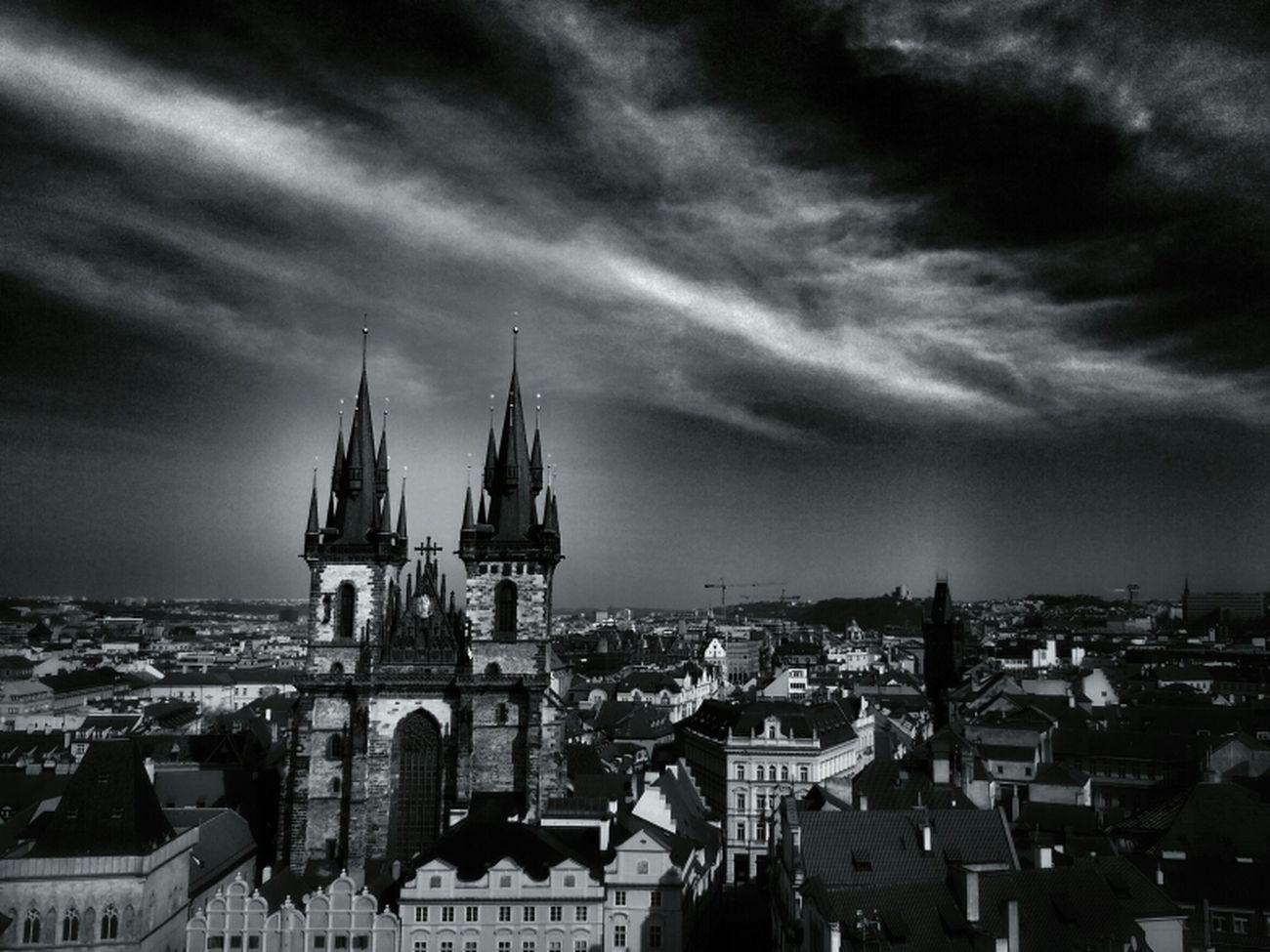 Týn Church Bws_worldwide Eye4photography  Hot_shotz Bwstyles_gf Bw_collection Blackandwhite Monochrome