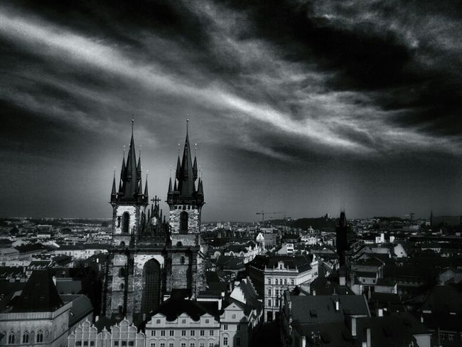 Týn Church Bws_worldwide Eye4photography  Hot_shotz Bwstyles_gf Bw_collection Blackandwhite Monochrome