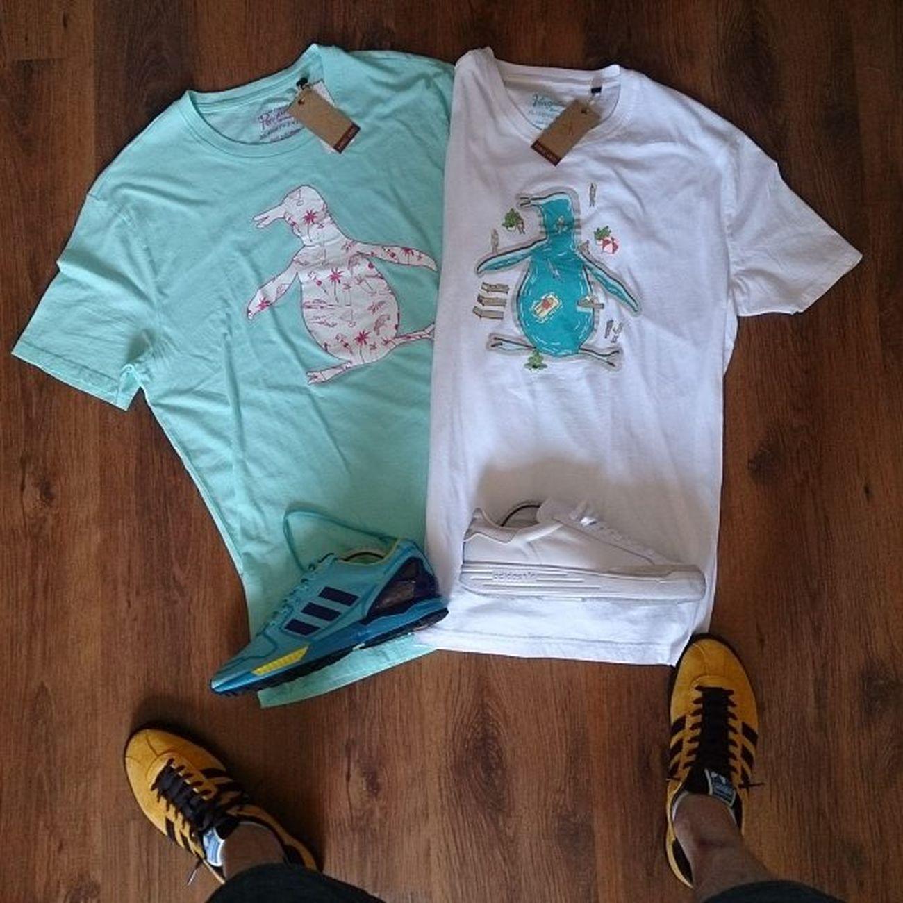 Todayspurchase couple of Anoriginalpenguin tshirt to match with da Adidaszxaqua and Adidasrodlaver 👊👏 Casualclobber Supercasual_ Matchdayclobber Matchdaymadness Awaydaymadness Awaydayclobber