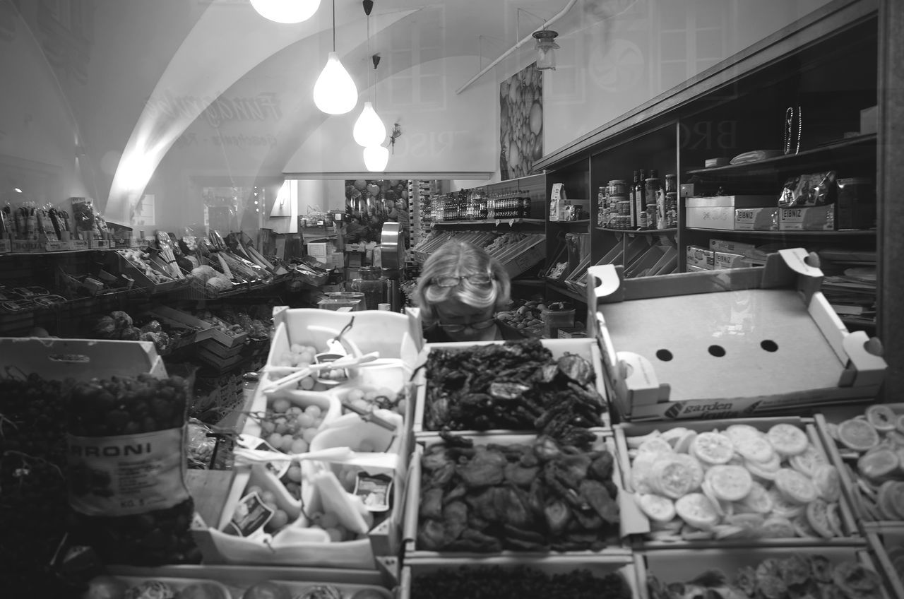 fruits n seeds Choice City Life City Street Freshness Fruits Goods Grocery Shopping Illuminated Indoors  Interior Views Large Group Of Objects Monochrome Photography No People Reflection Seeds Shop Store Streetphotography Variation Vegetables Window Woman Beautifully Organized