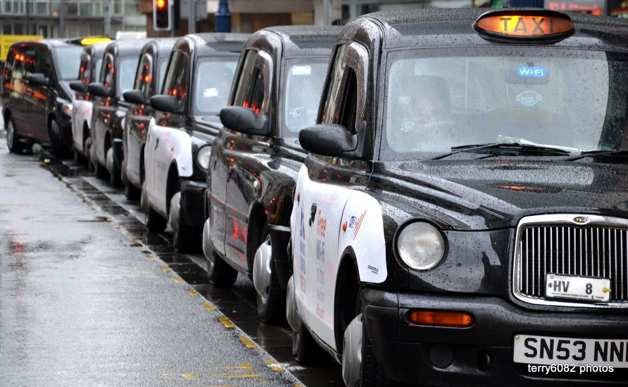 Car Day Hackney Cabs In A Row No People Outdoors Taxi Taxis Transportation Travel Travel Destinations