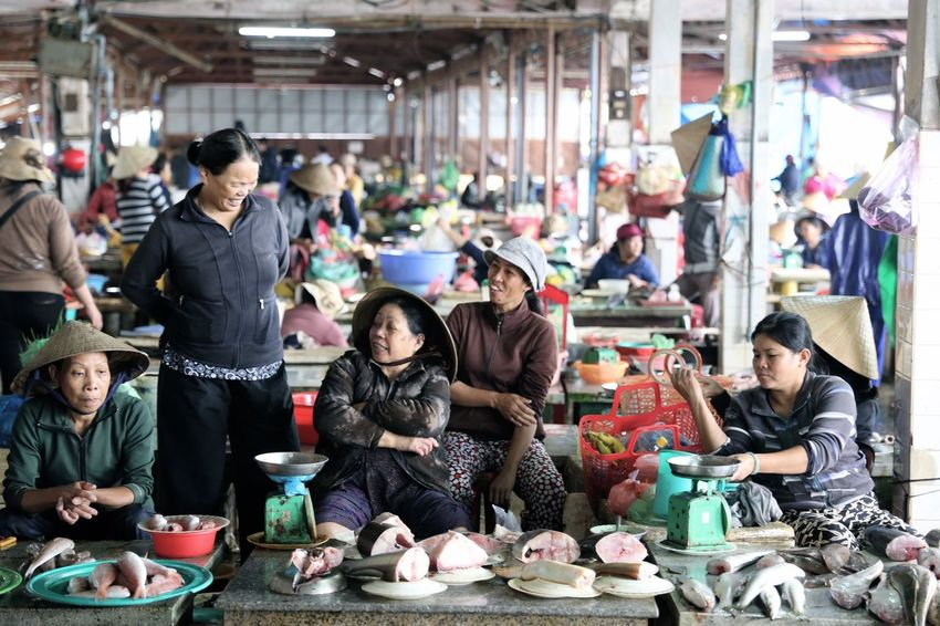 Market Stall Morning Market Vietnam Vietnamese Food Hawkers Fresh Market
