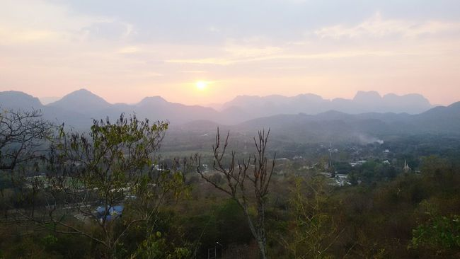 Sunset growth. Sunset Sun Mahidol University Nature Forests Beautiful Nature Beautiful Thailand_Kanchanaburi Thailand Mountain View