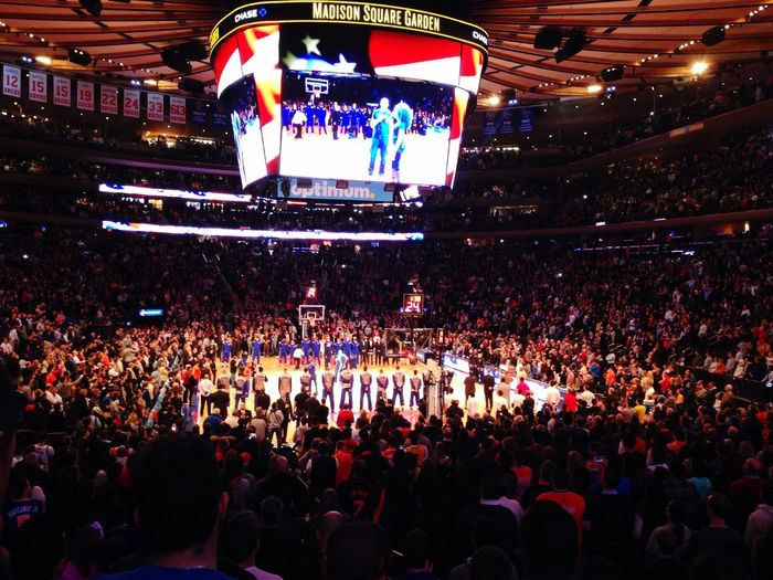 The game is about to start NY Knicks MSG IPhoneography Basketball IPSAngle