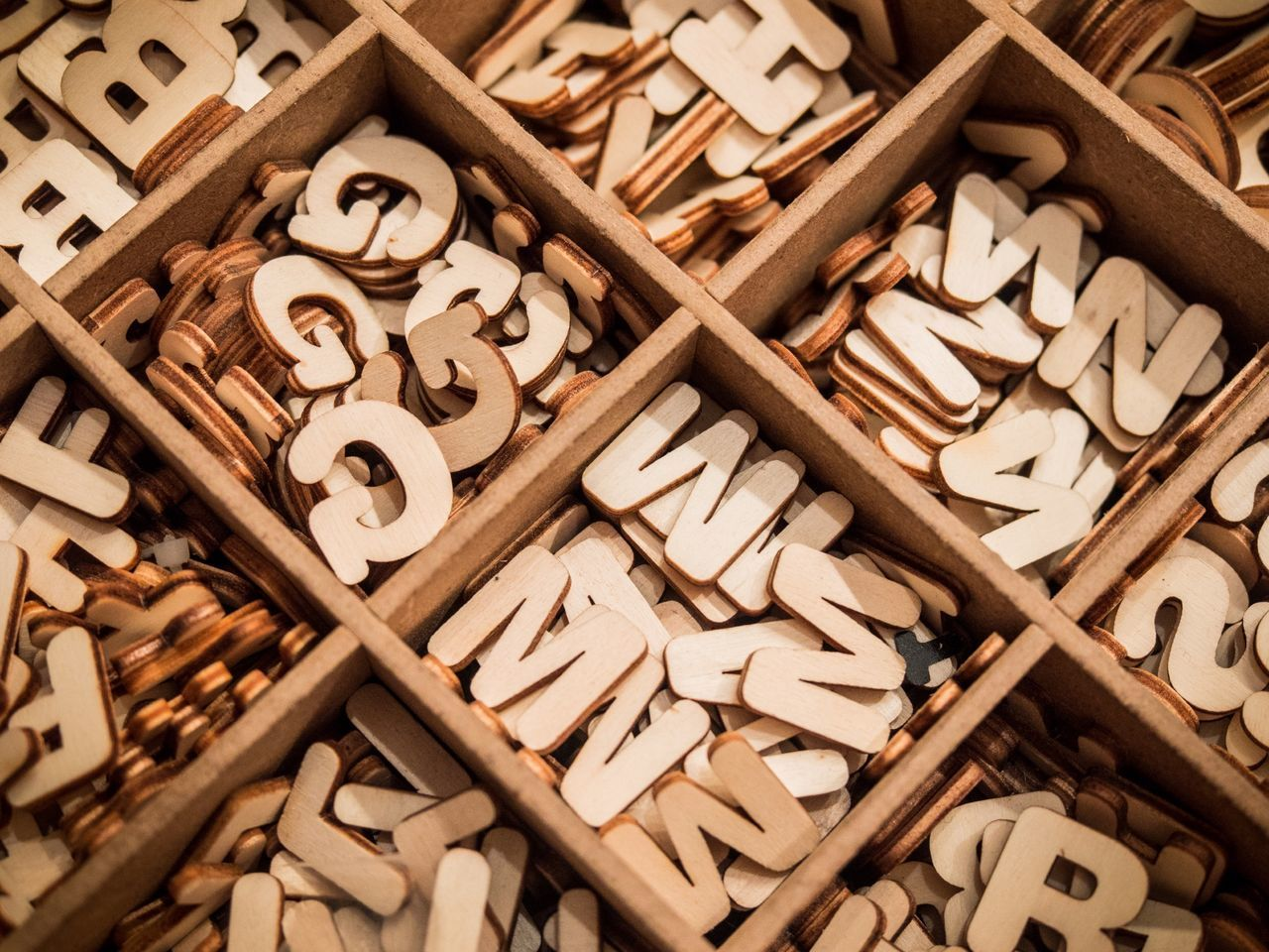 Wooden Letters In Box