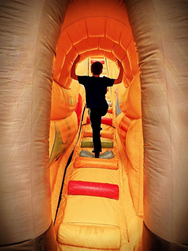 Inflatable  Bouncy Castle Inflatable Fun Fun Fun Day Boy Childsplay Kid Children Childhood Family Fun Day